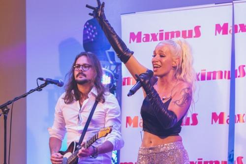 Alya performing at Late night shopping in Maximus