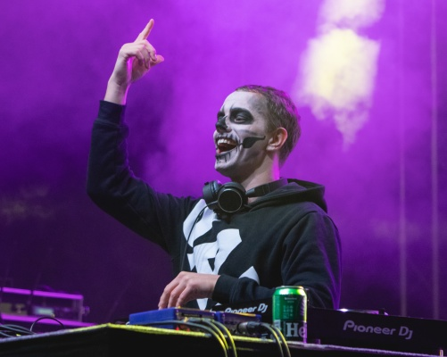 Alle Farben performing at Halloween festival 2019 in Slovenia