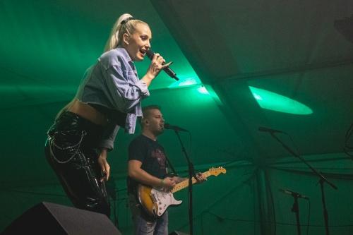 Ines Erbus performing at Halloween festival 2019