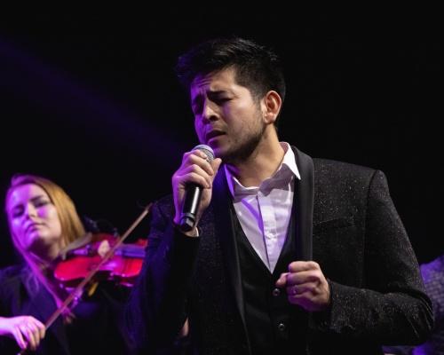 Isaac Palma performing at charity concert in Murska Sobota